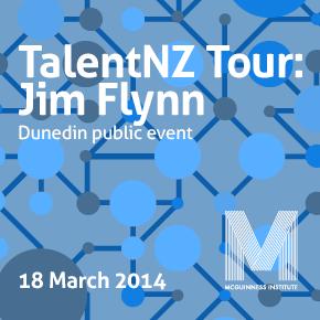 TalentNZ Tour: Jim Flynn speaks about university bureaucracy at the Dunedin public event