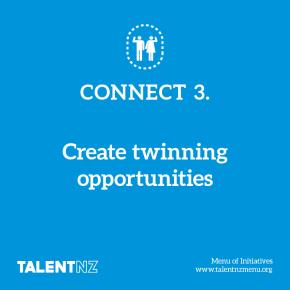 TalentNZ: Menu of Initiatives – Connect 3. Create twinning opportunities