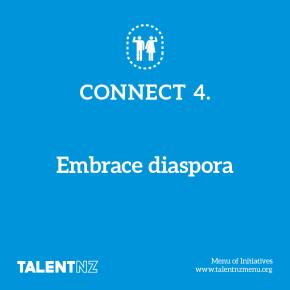TalentNZ: Menu of Initiatives – Connect 4. Embrace diaspora