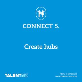 TalentNZ: Menu of Initiatives – Connect 5. Create hubs