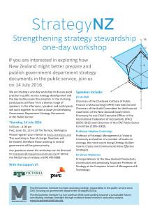 McGuinness Institute - StrategyNZ Workshop Flyer